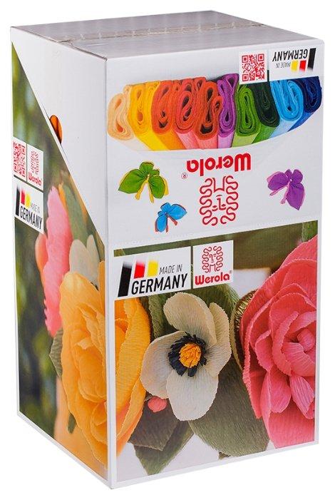 Цветная бумага крепированная в рулонах Ассорти Werola, 50х250 см, 100 л., 10 цв.