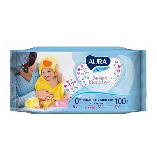 Влажные салфетки Aura Ultra Comfort липучка 100 шт. салфетки aura ultra comfort 100шт 6486