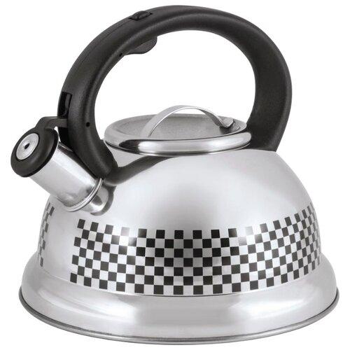 Mallony Чайник 002102/002103/002104 3 л черный/серебристый чайник maestro rainbow mr 1301 серебристый черный 3 5 л