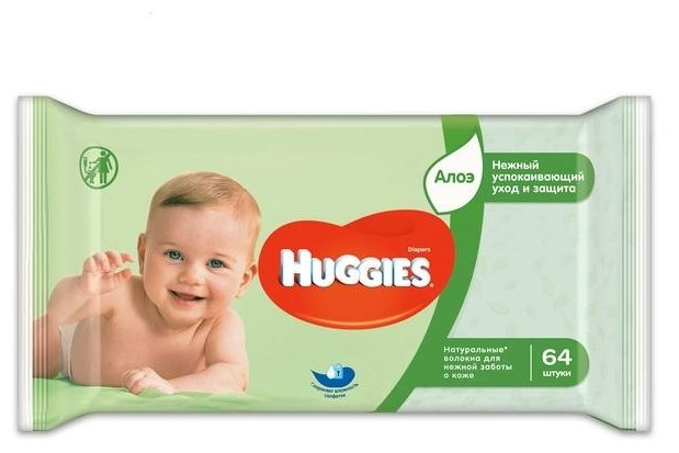 Влажные салфетки Huggies Ultra Comfort 64 шт.