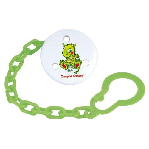 Купить Держатель пустышки Canpol Babies Fairy Tale 0 м (1 шт.) зеленый, Пустышки и аксессуары