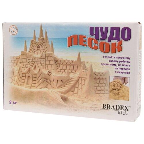 Кинетический песок BRADEX Чудо-песок серый 2 кг картонная пачкаКинетический песок<br>