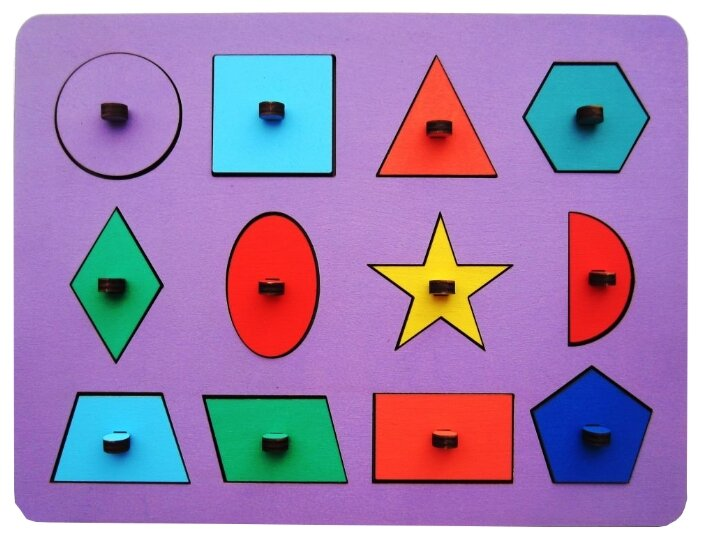 Рамка-вкладыш Smile Decor Геометрия (Р05) в ассортименте, 12 дет.