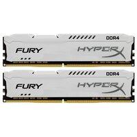 Модуль памяти DDR4 16GB (2*8GB) Kingston HX421C14FW2K2/16 HyperX FURY White PC4-17000 2133MHz CL14 1.2V XMP 1Rx8 Радиатор RTL