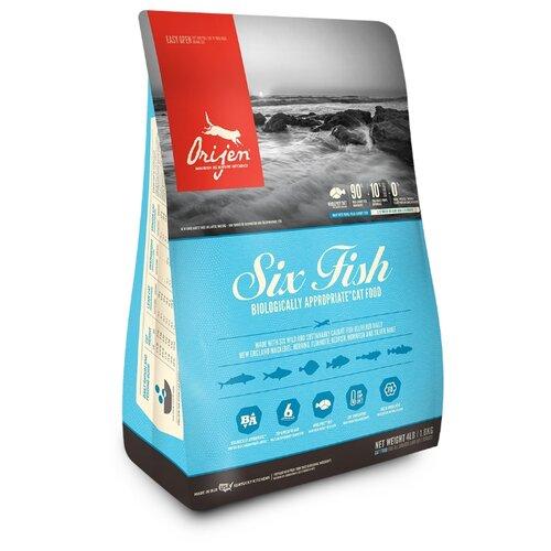 Сухой корм для кошек Orijen Six Fish беззерновой 1.8 кг.