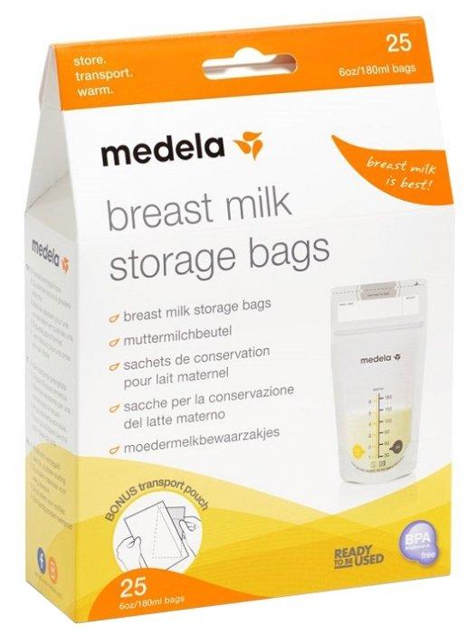 Medela Пакеты для хранения грудного молока 180 мл 25 шт.