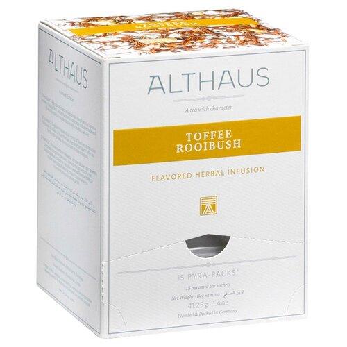 Фото - Чай травяной Althaus Toffee Rooibush в пирамидках, 15 шт. чай травяной леторос душевный разговор в пирамидках 20 шт
