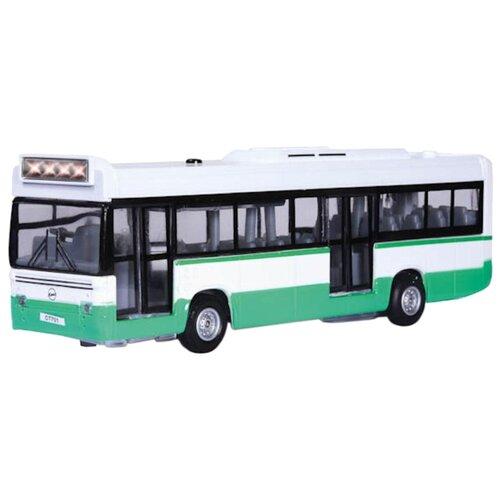 Купить Автобус ТЕХНОПАРК CT-1055 (SL701WB) 1:43 17 см белый/зеленый, Машинки и техника