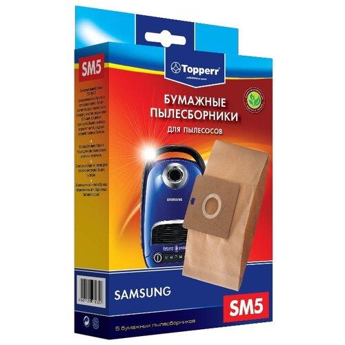 Фото - Topperr Бумажные пылесборники SM5 5 шт. topperr бумажные пылесборники sm5 5 шт