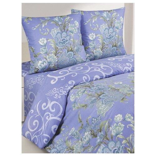 Постельное белье 1.5-спальное ECOTEX КП1/Габриэль поплин фиолетовыйКомплекты<br>