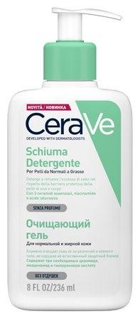 CeraVe гель очищающий для нормальной и жирной кожи лица и тела