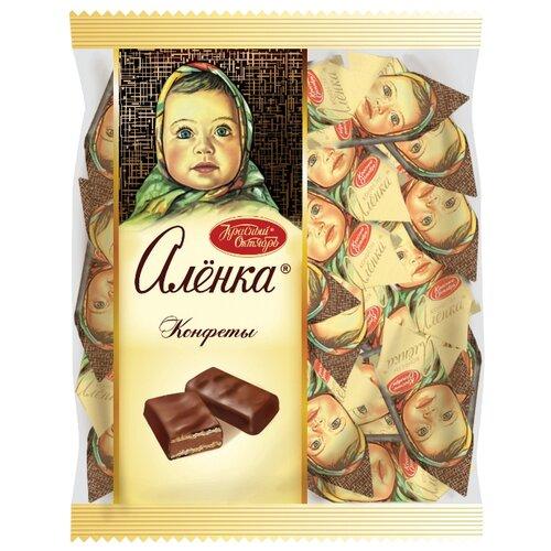 Конфеты Алёнка с вафельной начинкой, пакет 250 г