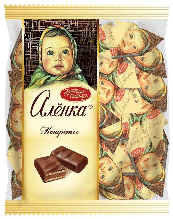 Конфеты Алёнка с вафельной начинкой, пакет