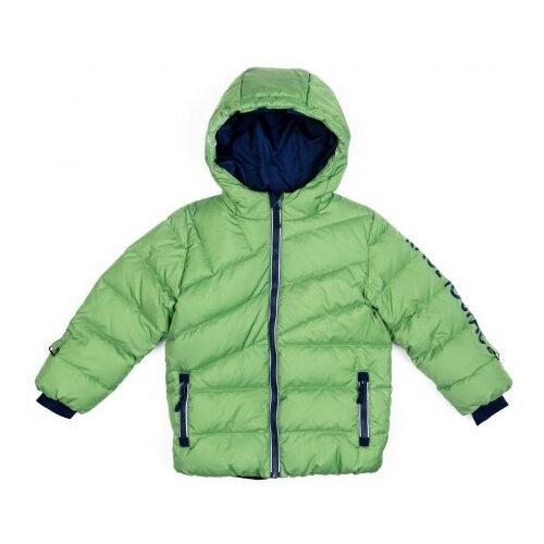 Купить Куртка playToday Космическое путешествие 371152 размер 98, зеленый/ синий/ белый, Куртки и пуховики
