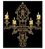 Сделай своими руками Набор для вышивания крестиком Вечер при свечах 43 х 48 см (В-28)