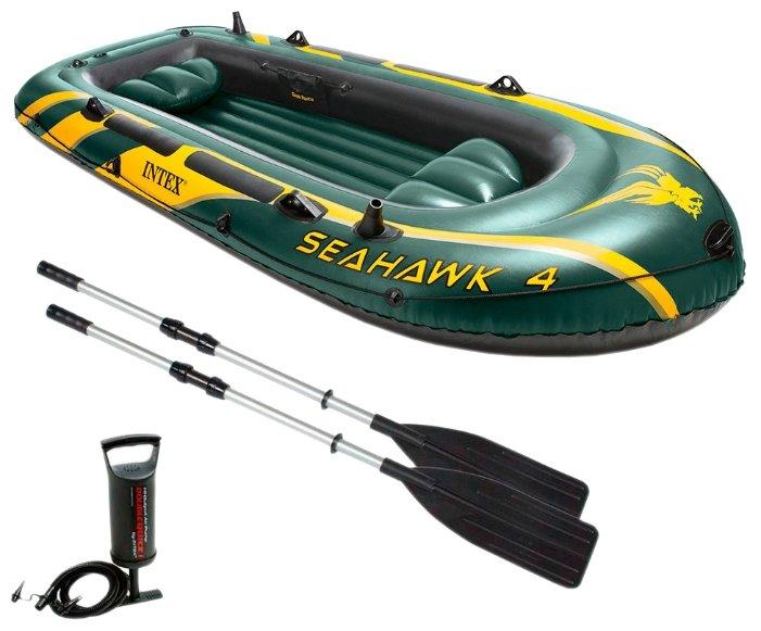 Надувная лодка Intex Seahawk-400