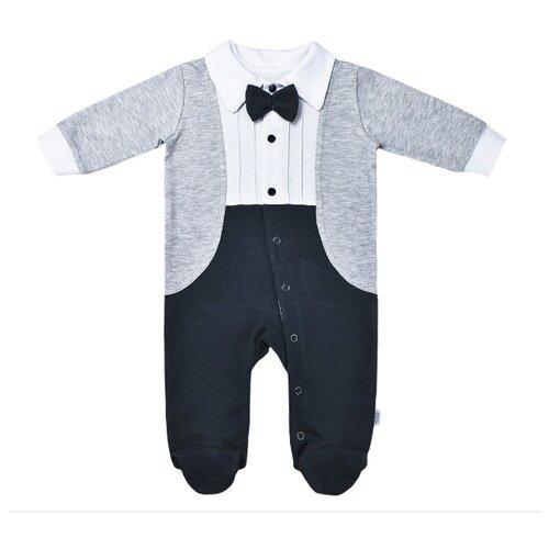 Фото - Комбинезон LEO размер 62, серый/синий костюм алтекс кд 055 мрамор 62 серый черный 62 размер