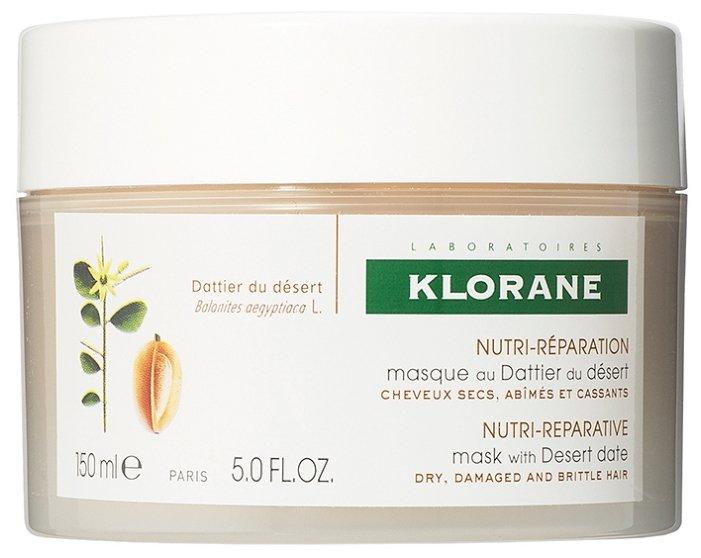 Klorane СУХИЕ ВОЛОСЫ Питание и восстановление Маска питательно-восстанавливающая с маслом финика пустынного