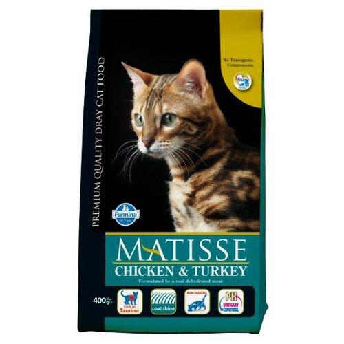 Корм для кошек Farmina Matisse с курицей, с индейкой 400 г корм консервированный для кошек farmina matisse мусс с ягненком 85 г
