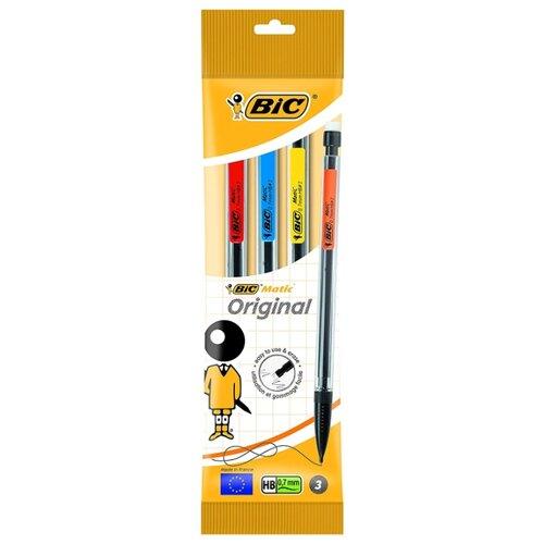 BIC Механический карандаш Matic HВ, 0.7 мм, 3 шт.
