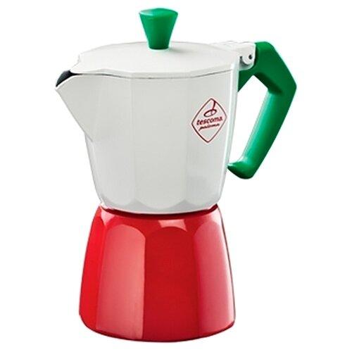 Гейзерная кофеварка Tescoma Paloma на 3 чашки, белый/красный/зеленый