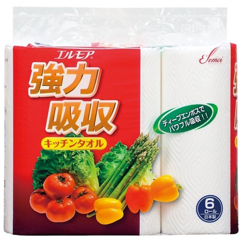 Полотенца бумажные Ellemoi 50 листов 6 шт.Туалетная бумага и полотенца<br>