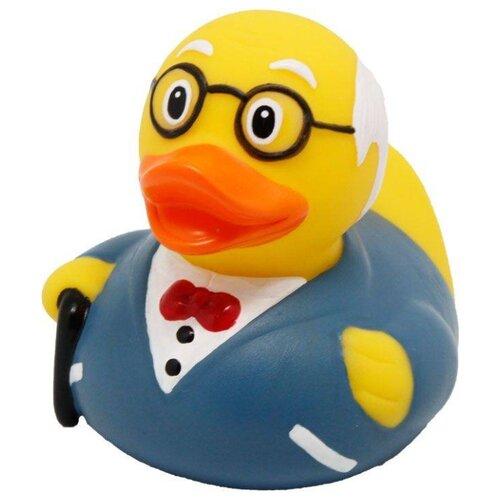 Купить Игрушка для ванной FUNNY DUCKS Дедушка уточка (1901) синий/желтый, Игрушки для ванной