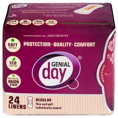 Genial day прокладки ежедневные ежедневные с анионовой полоской 24 шт.Прокладки и тампоны<br>