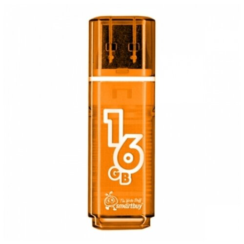 Фото - Флешка SmartBuy Glossy USB 2.0 16GB оранжевый smartbuy glossy series 64gb usb 2 0 черный
