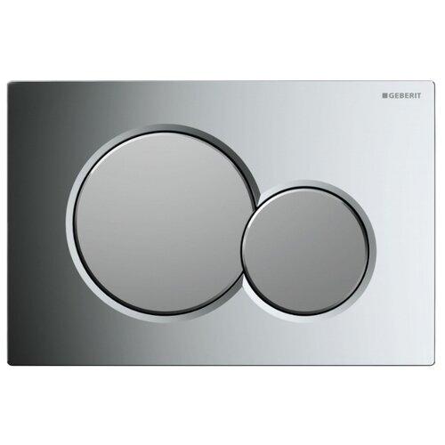 Кнопка смыва GEBERIT 115.770.KA.5 Sigma 01 глянцевый хром/матовый хромИнсталляции для унитазов, писсуаров, биде<br>