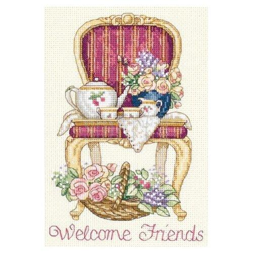 Купить Dimensions Набор для вышивания крестиком Teatime Welcome (Время чаепития) 13 х 18 см (06954), Наборы для вышивания
