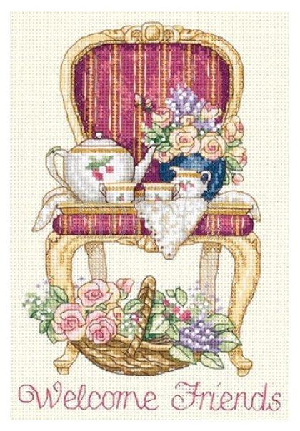 Dimensions Набор для вышивания крестиком Teatime Welcome (Время чаепития) 13 х 18 см (06954)