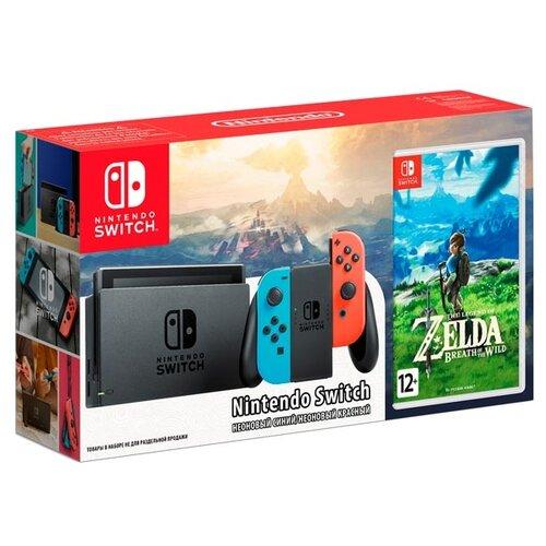 Купить Игровая приставка Nintendo Switch красный/синий + The Legend of Zelda: Breath of the Wild
