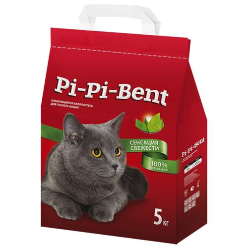 Комкующийся наполнитель Pi-Pi-Bent Сенсация свежести, 5 кг комкующийся наполнитель pi pi bent классик 10 кг