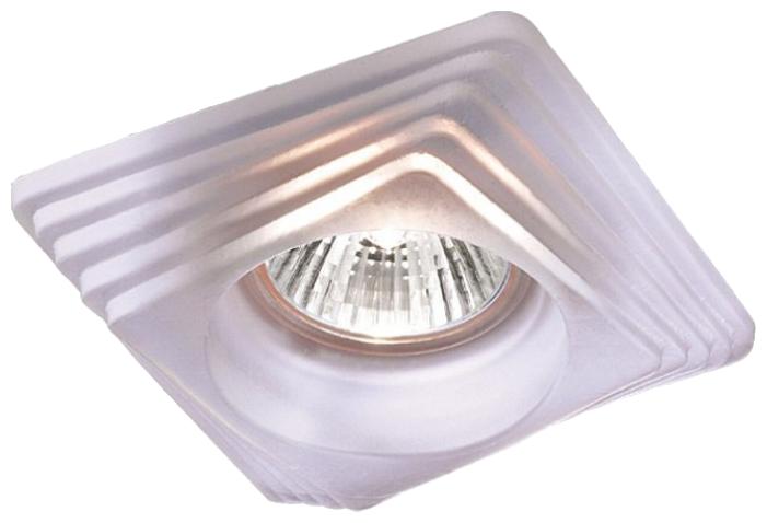 """Светильник встраиваемый Novotech """"Glass"""", неповоротный, GX5.3, 12 В, 50 Вт, 98x98 мм (цвет: матовый белый)"""