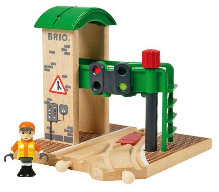 Brio Сигнальная станция со стрелкой и светофором 33674