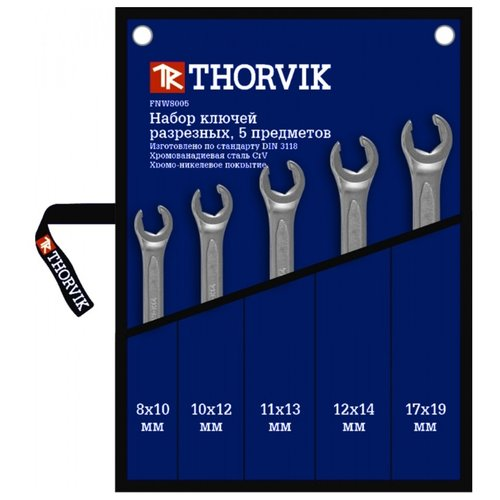 Фото - Набор гаечных ключей Thorvik FNWS005, 5 предм. набор гаечных ключей thorvik 6 предм orws006