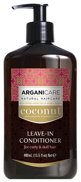 ARGANICARE Argan Oil & Coconut Несмываемый кондиционер для волос с кокосом для вьющихся и тусклых волос
