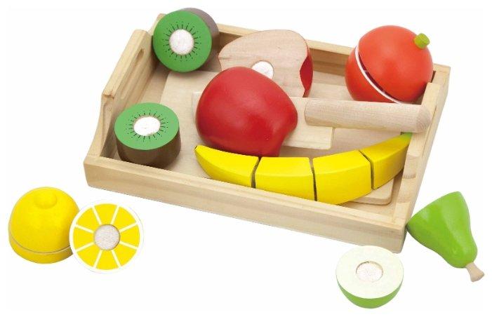 Набор продуктов с посудой Viga Cutting Fruit