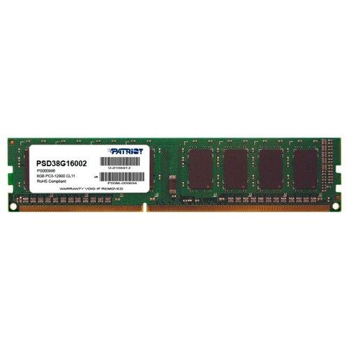 Оперативная память Patriot Memory Signature DDR3 1600 (PC 12800) DIMM 240 pin, 8 ГБ 1 шт. 1.5 В, CL 11, PSD38G16002
