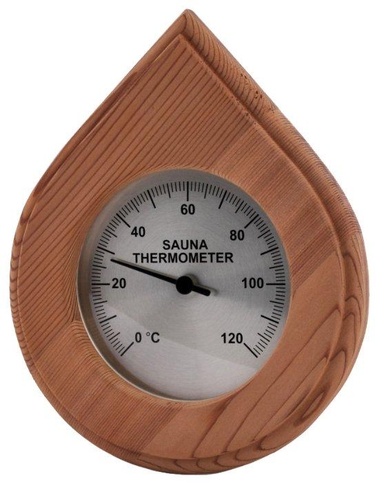Термометр SAWO 250-ТD, форма капли, материал кедр, Sawo (Саво)