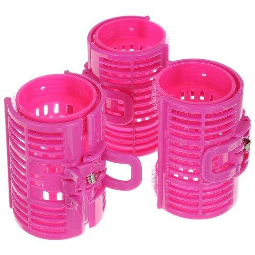 Классические бигуди Silva С фиксатором-автомат SH 372 (40 мм) 3 шт. розовый