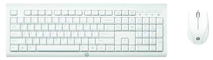 HP Клавиатура и мышь HP M7P30AA C2710 White USB