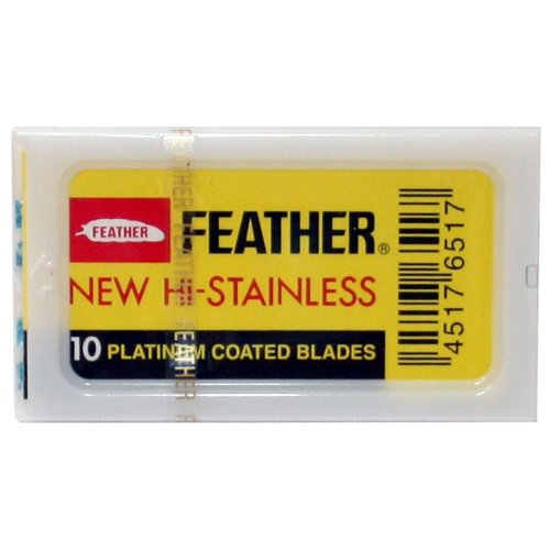 Лезвия для Т-образного станка Feather New Hi-Stainless, 10 шт.