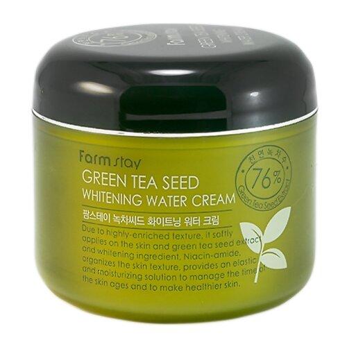 Купить Farmstay Green Tea Seed Whitening Water Cream Увлажняющий осветляющий крем для лица с семенами зеленого чая, 100 г