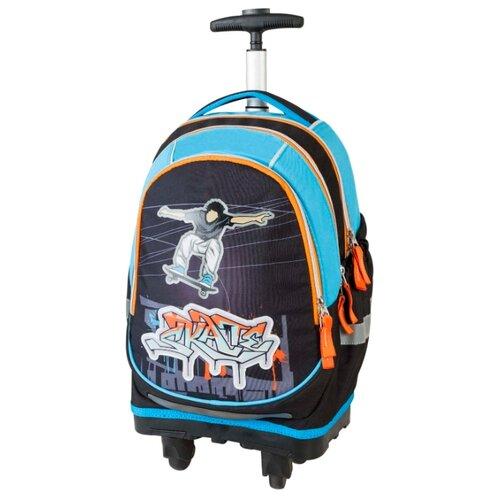 Target Рюкзак-тележка Скейтер (17884), синий/голубой/оранжевый target рюкзак тележка скейтер