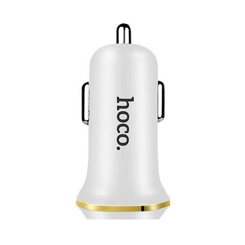 Автомобильная зарядка Hoco Z1 + кабель microUSB, белый
