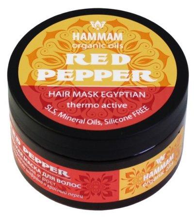 """Hammam organic oils Египетская маска для волос «Red Pepper """"Укрепление и рост""""»"""