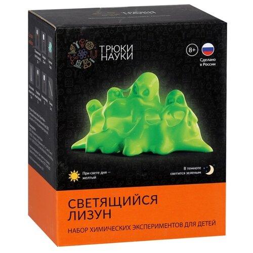 Купить Набор Трюки науки Светящийся лизун желтый/зеленый, Наборы для исследований