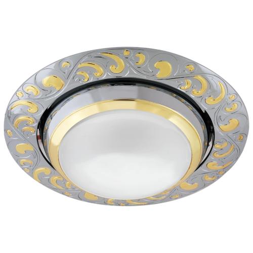 Встраиваемый светильник De Fran FT 182A CHG R50, хром / золото треугольник de fran ft 9228 g smd